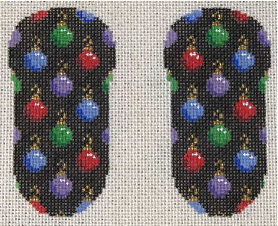 click here to view larger image of Christmas Flip Flop Ornaments (includes embellishments) (hand painted canvases)