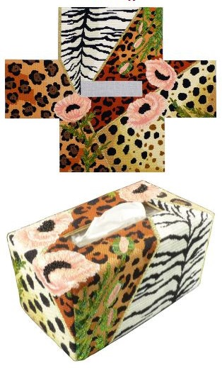 click here to view larger image of Wild Poppies Tissue Topper (Stitch Guide) (books)