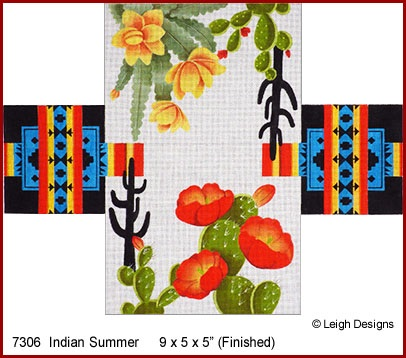 click here to view larger image of Indian Summer Tissue Topper (hand painted canvases)