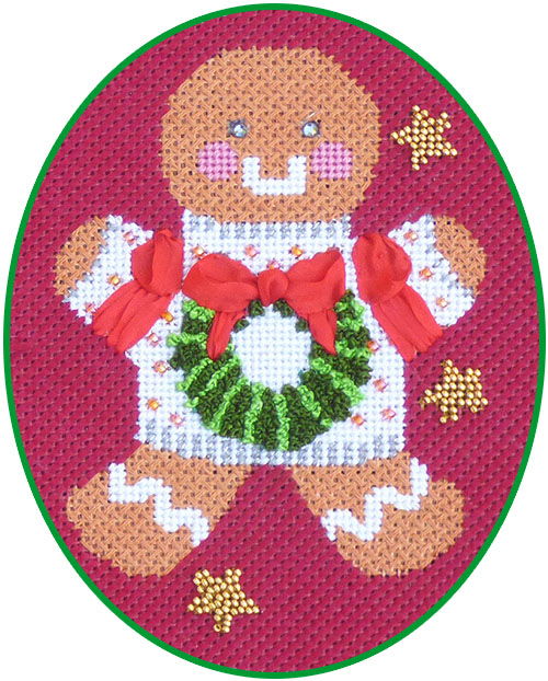 click here to view larger image of Ginger Wreath Stitch Guide (books)