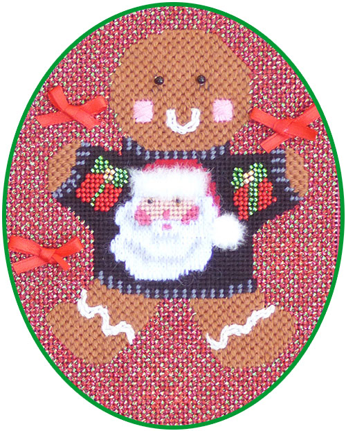 click here to view larger image of Ginger Santa Stitch Guide (books)