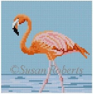 click here to view larger image of Flamingo Coaster (hand painted canvases)