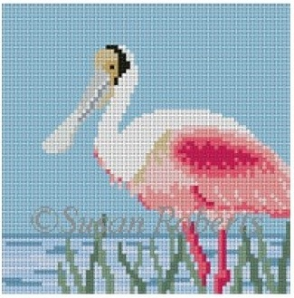 click here to view larger image of Spoonbill Coaster (hand painted canvases)