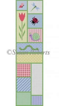 click here to view larger image of Flower Garden Patch Eyeglass Case (hand painted canvases)