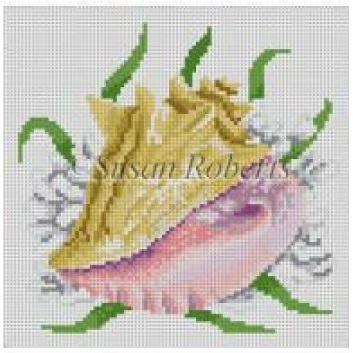 click here to view larger image of Seashell, Queen Conch (hand painted canvases)
