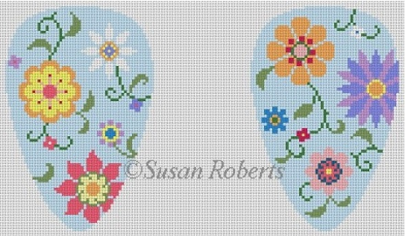 click here to view larger image of Scissor Case, Flower Pops (hand painted canvases)