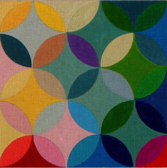 click here to view larger image of Overlapping Circles (Multi Colored Circles) (hand painted canvases)