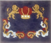 click here to view larger image of Lions With Crown (hand painted canvases)