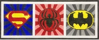 click here to view larger image of Superhero Emblems (hand painted canvases)