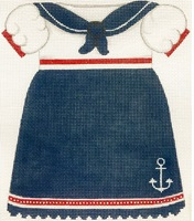click here to view larger image of Girls Sailor Dress (hand painted canvases)