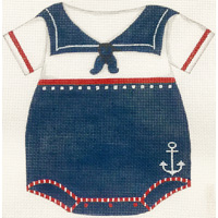 click here to view larger image of Boys Sailor Onesie (hand painted canvases)