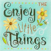 click here to view larger image of Enjoy The Little Things (hand painted canvases)