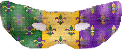 click here to view larger image of Fleur de Lis Mardi Gras Mask (Small) (hand painted canvases)