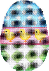 click here to view larger image of Dots/Chicks/Harlequin Egg (hand painted canvases)