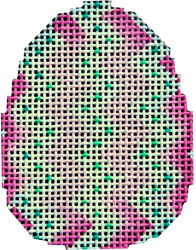 click here to view larger image of Pink Chevron Mini Egg (hand painted canvases)