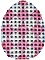 click here to view larger image of Pink Harlequin Mini Egg (hand painted canvases)