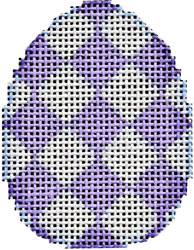 click here to view larger image of Purple Harlequin Mini Egg (hand painted canvases)