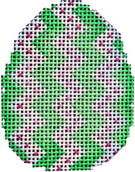 click here to view larger image of Lime Chevron Mini Egg (hand painted canvases)