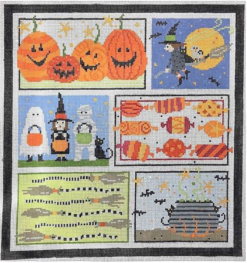 click here to view larger image of Halloween Six (hand painted canvases)