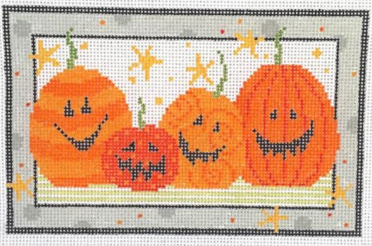 click here to view larger image of Jack O Lanterns (hand painted canvases)
