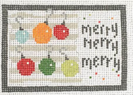 click here to view larger image of Merry Merry Merry (hand painted canvases)