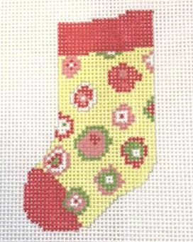 click here to view larger image of Circles Mini Sock (hand painted canvases)