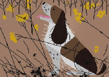 click here to view larger image of Springer Spaniel (hand painted canvases)