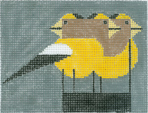 click here to view larger image of Grosbeak (hand painted canvases)