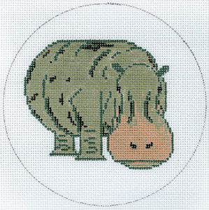 click here to view larger image of Hippo (hand painted canvases)