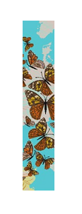 click here to view larger image of Blue Skies & Butterflies (hand painted canvases)