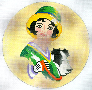 click here to view larger image of Art Deco Dog Walker (hand painted canvases)