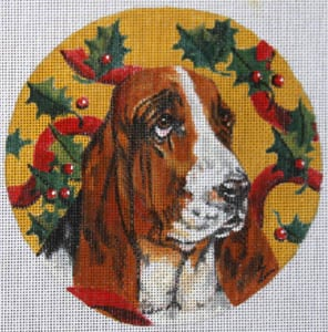 click here to view larger image of Bassett Hound (hand painted canvases)
