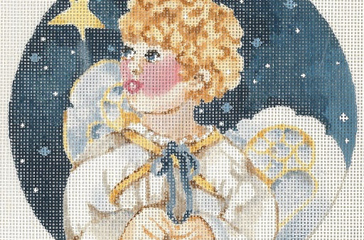 click here to view larger image of Angel With Star (hand painted canvases)