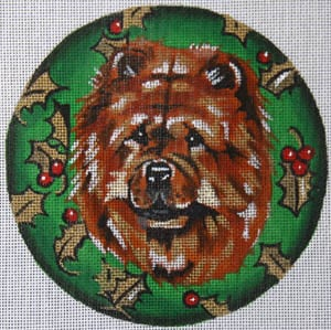 click here to view larger image of Chow with Holly (hand painted canvases)