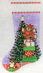 click here to view larger image of Beary - Christmas (hand painted canvases)