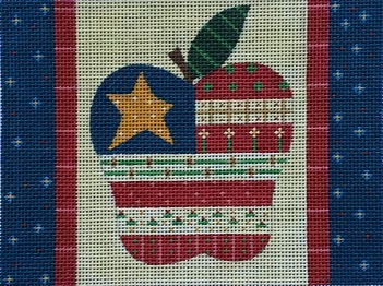 click here to view larger image of Apple Flag (hand painted canvases)