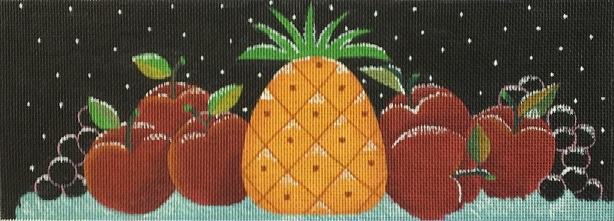 click here to view larger image of Snowy Fruit (hand painted canvases)