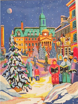 click here to view larger image of Winter Wonderland (hand painted canvases)