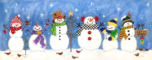 click here to view larger image of Snow Play (hand painted canvases)