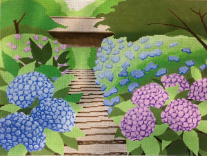 click here to view larger image of Summer Home Scene (hand painted canvases)