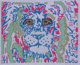 click here to view larger image of Lily The Lion (hand painted canvases)