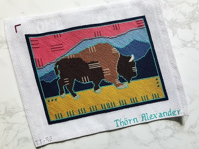 click here to view larger image of Badlands Bison (hand painted canvases)