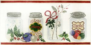 click here to view larger image of Mason Jars Christmas (hand painted canvases)
