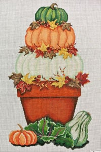 click here to view larger image of Fall Harvest (hand painted canvases)