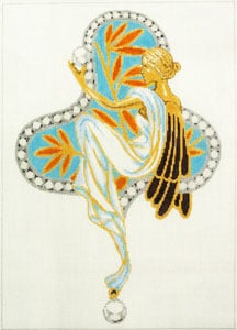 click here to view larger image of Tiffany Jewels - Blue Fairy (hand painted canvases)