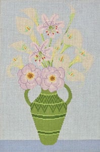 click here to view larger image of English Flowers (hand painted canvases)