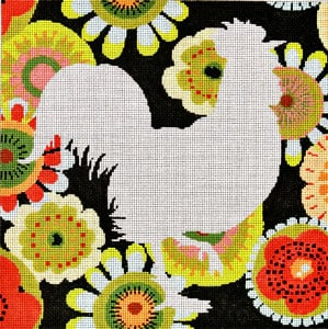 click here to view larger image of Silhouette Rooster (hand painted canvases)