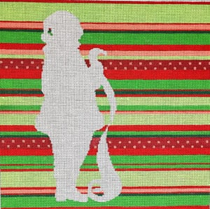 click here to view larger image of Silhouette Santa (hand painted canvases)