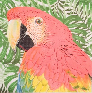 click here to view larger image of Parrot Scarlet Macaw (hand painted canvases)