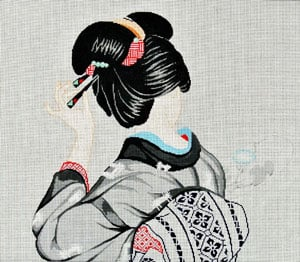 click here to view larger image of Geisha Beauty (hand painted canvases)